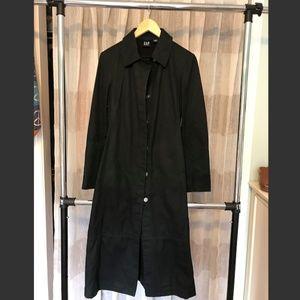 Long Black Gap Trench Coat